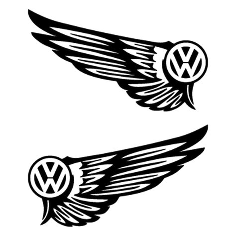 volkswagen transparent logo set of 2 vw volkswagen logo wings tuning decals