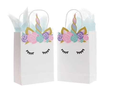 white unicorn party bags set   quokkaloco