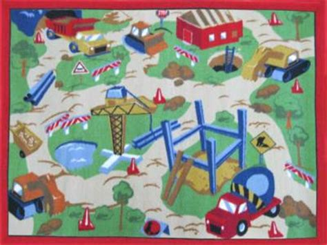 Construction Play Rug by Caldwellcarpet Childrens Construction Site Play Rug