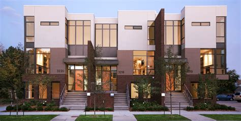 American Homes Interior Design zuni townhomes urban architecture project