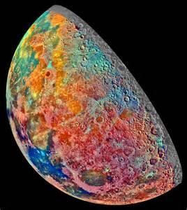 nasa colors nasa the mineral moon
