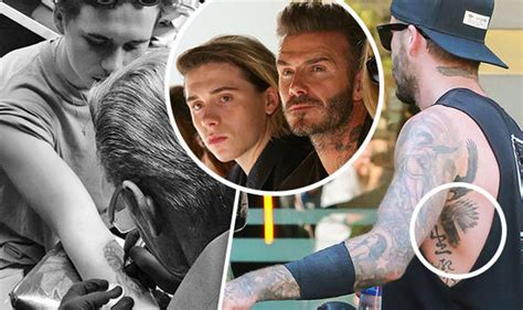 tattoo brooklyn beckham brooklyn beckham pays homage to david as he gets copycat