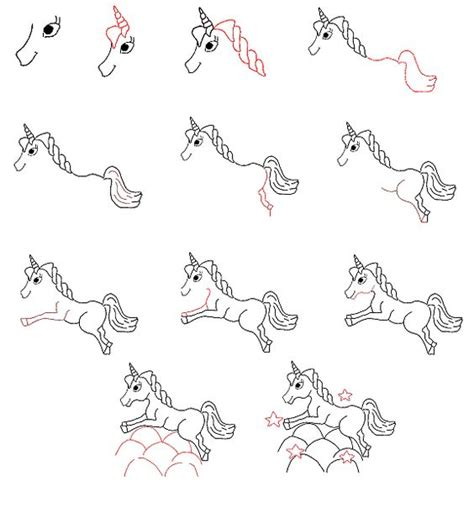 how to draw a doodle unicorn easy to draw unicorn learn to draw a unicorn step by
