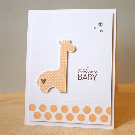 Handmade Welcome Cards - welcome baby handmade baby card 4 00 via etsy baby