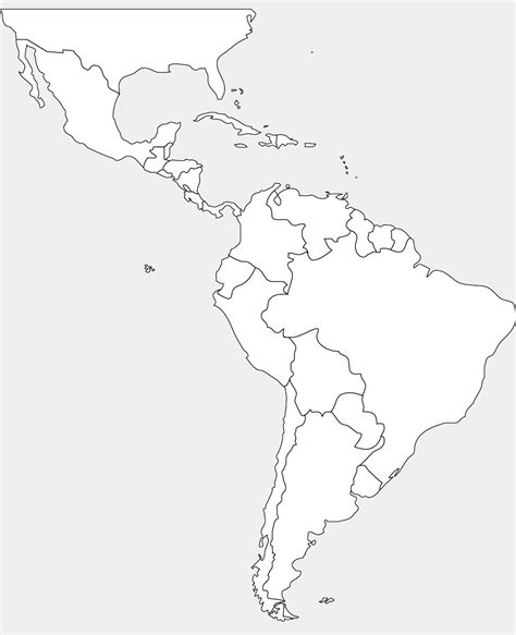 south america map outline america blank map