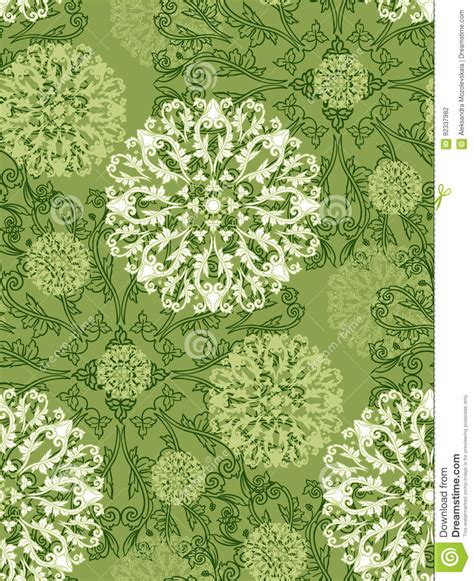 radial pattern of plant elements vector illustration