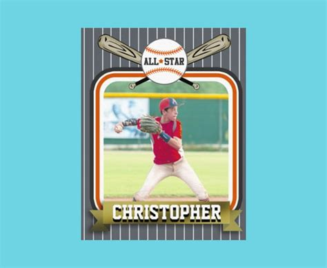 Baseball Card Style Business Cards