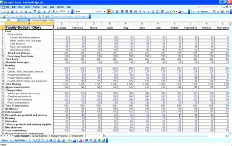 monthly profit  loss statement template excel