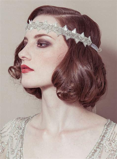 roaring 20 s long hairstyles vintage bridal headband great gatsby onewed com