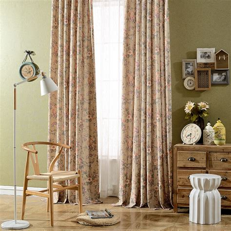 thick window curtains vintage floral printed thick window curtains for living room