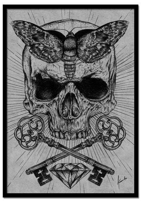 how to draw occult and horror occult desire by alves via behance calaveras