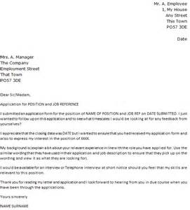 Follow up letter to a job application icover org uk
