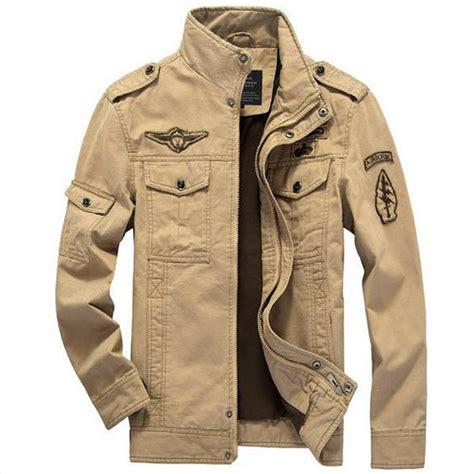 Jaket Bomber Army Jaket Wanita cotton bomber jackets 2016 beige jacket jackets mens coats army outdoors