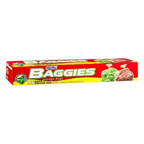 hefty baggies storage bags with ties gallon 75 ct