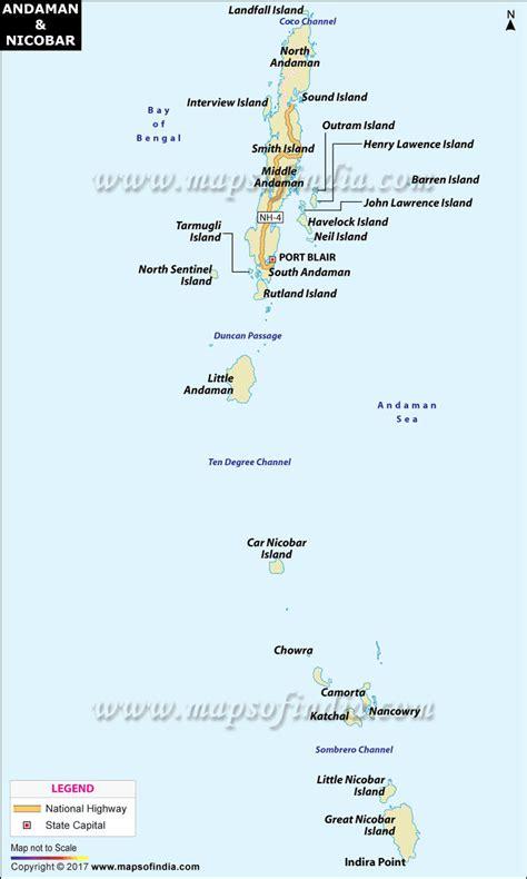 Andaman And Nicobar Outline Map by Andaman And Nicobar Islands Map India