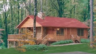 log home design plan and kits for lakehouse