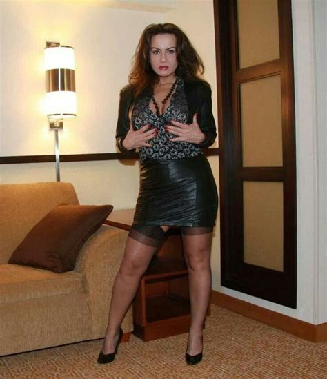 mature clothes pinterest sensual wife in leather skirt leather clothes