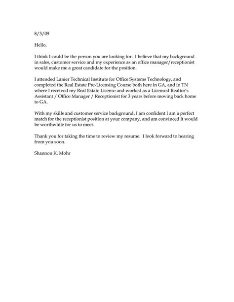 short simple cover letter 4264