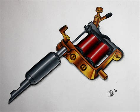 tattoo machine drawing hot rod car tattoos tattoo gun drawing