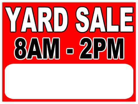 Yard Sale Sign Template garage sale 112 garage sale sign templates