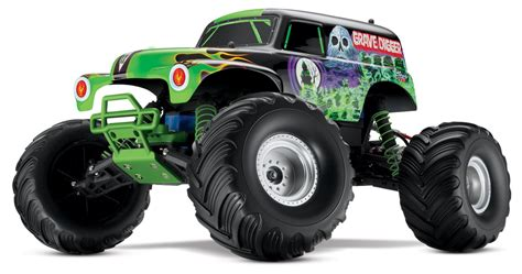 rc grave digger monster truck traxxas monster jam grave digger 2 4ghz rtr radio