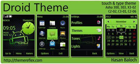 themes nokia asha 300 droid theme for nokia asha 300 asha 300 x3 02 c2 02