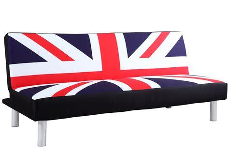 union jack settee sofa bed with retro union jack british flag print fabric