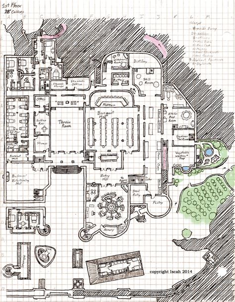 fantasy castle floor plans pinnacle castle 1st floor layout by kayiscah on deviantart