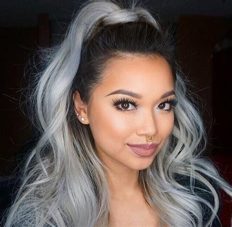tintes de cabello color gris pelo gris platinado el color de moda mujer chic