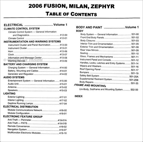 motor auto repair manual 2006 lincoln zephyr parking 2006 ford fusion mercury milan lincoln zephyr repair shop manual 2 volume set original