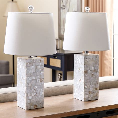 abbyson living mother  pearl table lamp set   table lamps  hayneedle