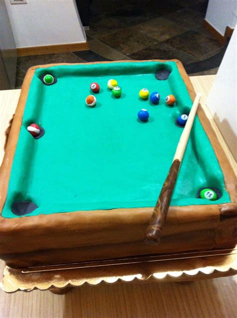 pool table cake my