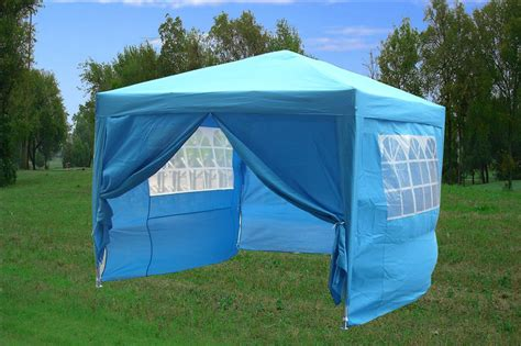 pop up tent awning 10 x 10 easy pop up tent canopy w 4 sidewalls 12 colors