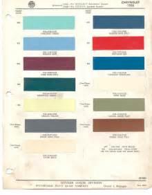 1956 Chevrolet Colors Paint Chips 1956 Chevrolet Corvette