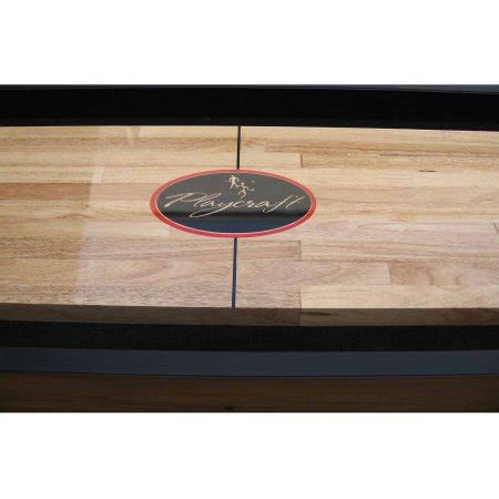 playcraft woodbridge honey oak 9 shuffleboard table