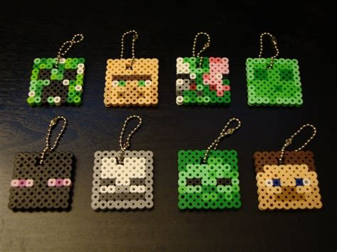 minecraft perler minecraft perler bead keychain nerdy crafts ideas