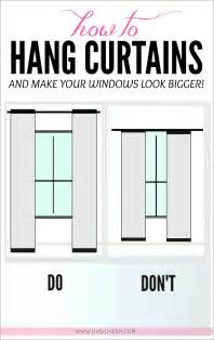 How Long Should Drapes Be How To Hang Curtains To Make Any Window Look Bigger Great