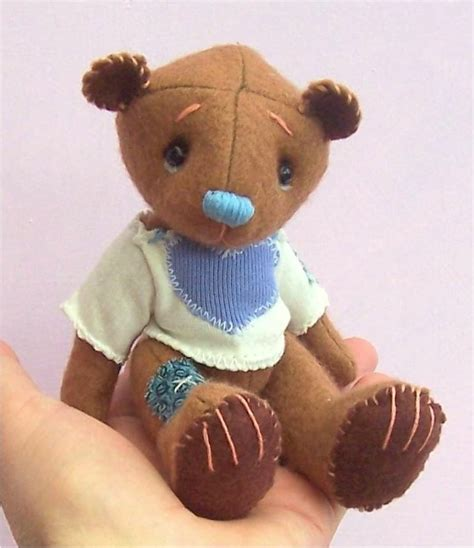 toffee teddy bear soft toy sewing pattern