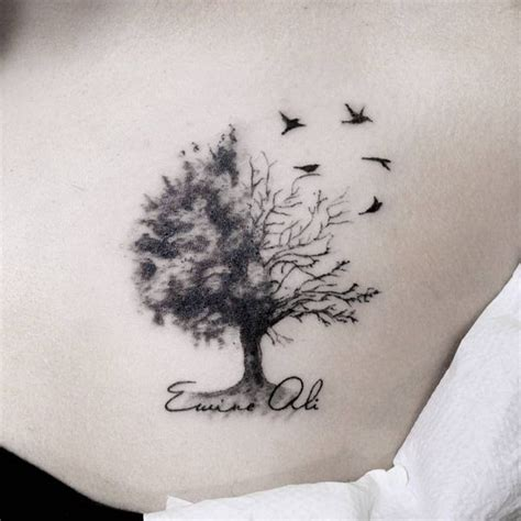 photo collection feminine oak tree tattoos