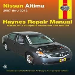 Owners Manual For 2009 Nissan Altima 2007 2008 2009 2010 2011 2012 Nissan Altima Haynes Repair