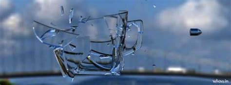 broken glass slow motion art facebook cover