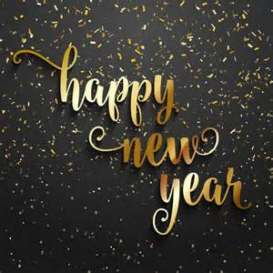 new year s colors happy new year background with golden confetti vector