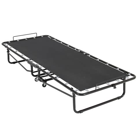 Folding Rollaway Bed Folding Rollaway Guest Bed Cot With Memory Foam Mattress