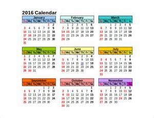 Calendar Monthly Template Illustrator 2016 Calendar Template Illustrator