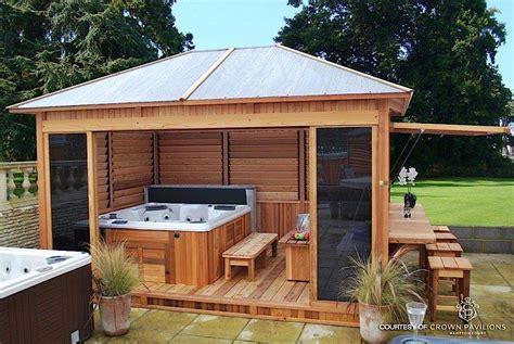 tub spa enclosure decor ideas