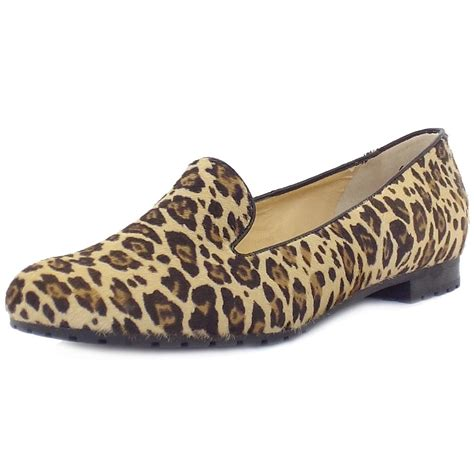 leopard loafers kaiser viga smart casual loafers in leopard print