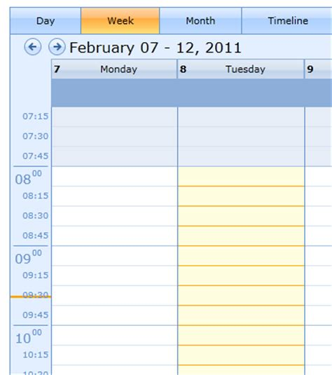 calendar with time slots template customizing time slots in silverlight schedule