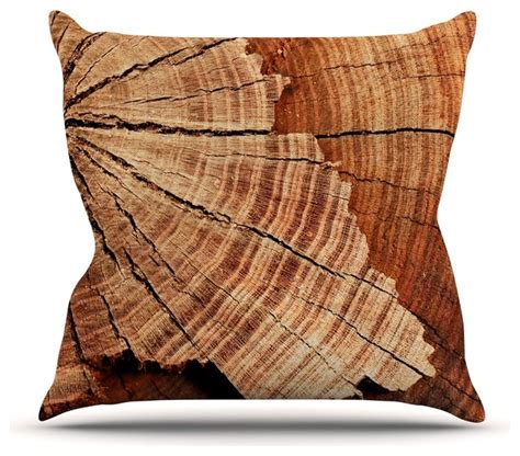 Rustic Pillows And Throws Susan Sanders Quot Rustic Quot Brown Wood Throw Pillow