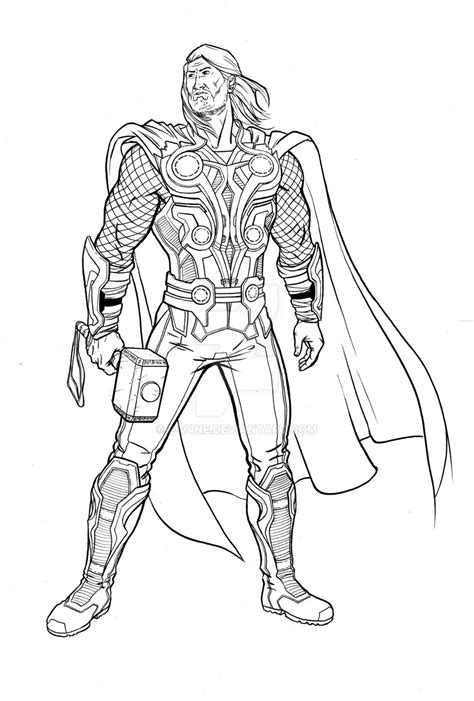 mighty avengers coloring pages thor thursday 40 the mighty avenger by e v4ne on deviantart