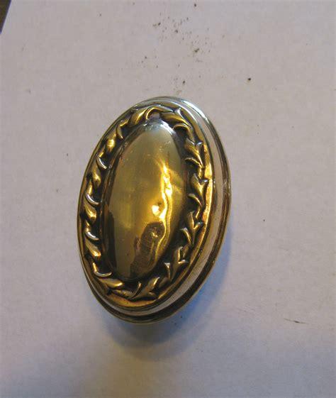 Oval Brass Door Knobs by Antique Pair Of Brass Oval Door Knobs